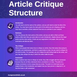 article critique structure