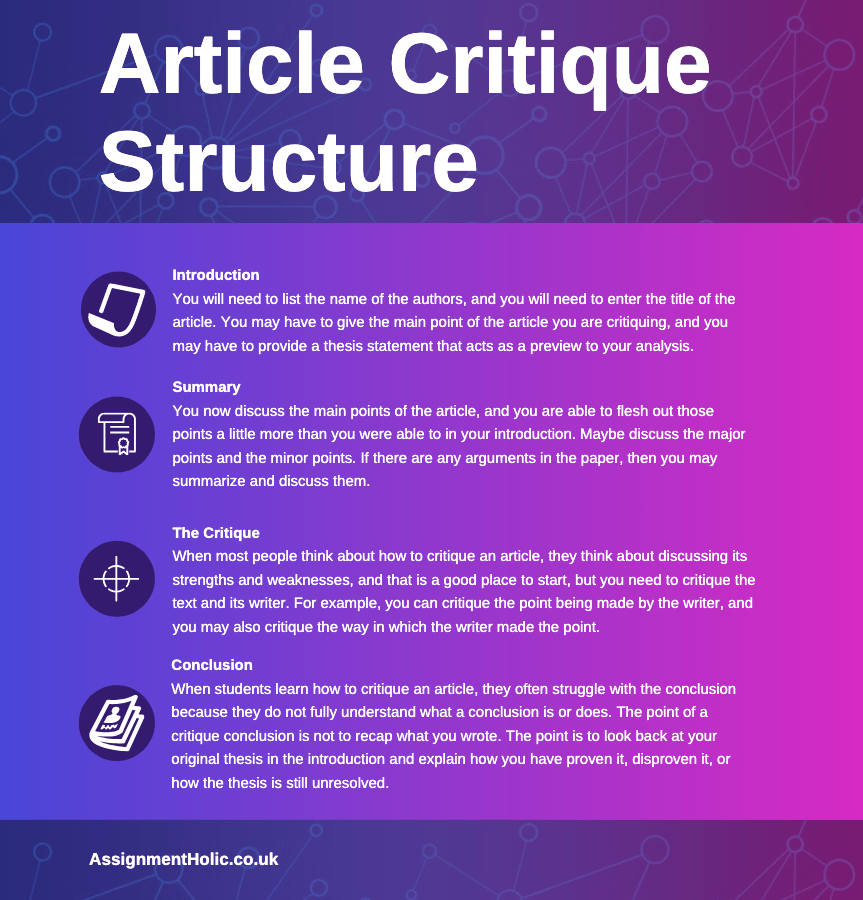 article critique structure