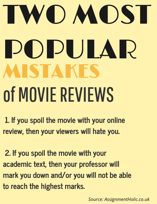 two most popular mistakes of movie reviews